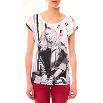 textil Mujer Camisetas manga corta By La Vitrine Top Clara 1104 Blanc Blanco