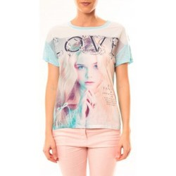 textil Mujer Camisetas manga corta By La Vitrine Top Love B002 Vert Verde