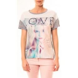 textil Mujer Camisetas manga corta By La Vitrine Top Love B002 Gris Gris