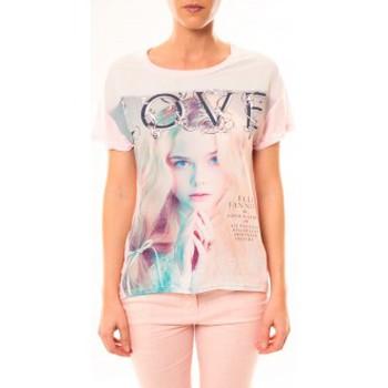 textil Mujer Camisetas manga corta By La Vitrine Top Love B002 Rose Rosa