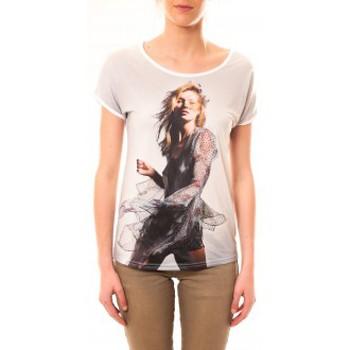 textil Mujer Camisetas manga corta By La Vitrine Tee-shirt MC1497 Blanc Blanco