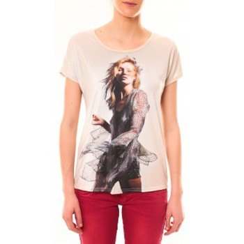 textil Mujer Camisetas manga corta By La Vitrine Tee-shirt MC1497 Rose Rosa