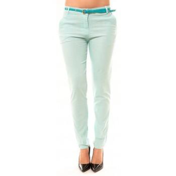 textil Mujer Pantalones con 5 bolsillos Dress Code Pantalon Luizaco L705 Vert Verde