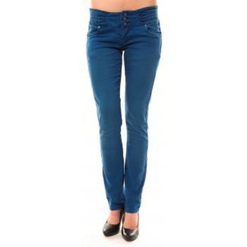 textil Mujer Vaqueros rectos Dress Code Jeans Rremixx RX320 Bleu Azul