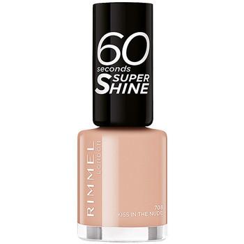 Belleza Mujer Esmalte para uñas Rimmel London 60 Seconds Super Shine 708-kiss In The Nude 8 ml