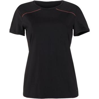 textil Mujer Camisetas manga corta Lisca Energy  Cheek camiseta deportiva de manga corta negra Pearl Black