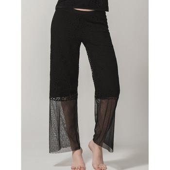 textil Mujer Pantalones fluidos Luna Pantalones de Prestigio  Splendida Pearl Black