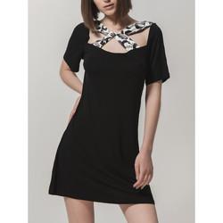 textil Mujer Vestidos cortos Luna Vestido de verano Ibiza  Splendida Pearl Black