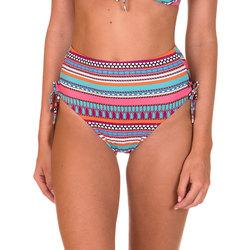 textil Mujer Bañador por piezas Lisca Medias de traje baño cintura alta con nudos coral Capri Encaje Blanco