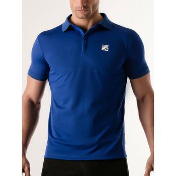 textil Hombre Polos manga corta Code 22 Camisa de polo estenopeica Código 22 Azul