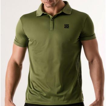 textil Hombre Polos manga corta Code 22 Camisa de polo estenopeica Código 22 Lavanda