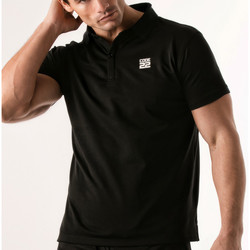 textil Hombre Polos manga corta Code 22 Camisa de polo estenopeica Código 22 Pearl Black