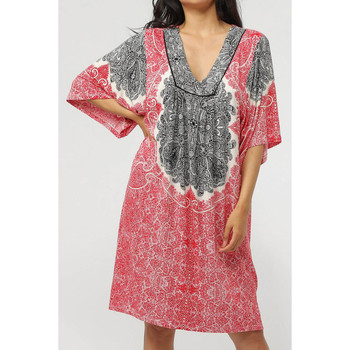 textil Mujer vestidos cortos Admas Vestido playero de manga tres cuartos Beach Paisley Arena