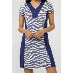 textil Mujer vestidos cortos Admas Vestido de playa los Almas Piel la Marina Azul