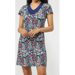 textil Mujer vestidos cortos Admas Vestido de playa Plumas Azul