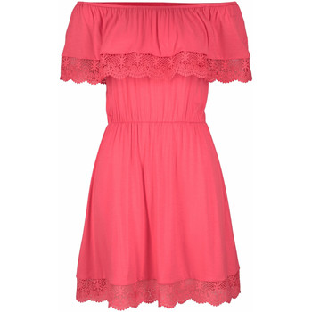 textil Mujer vestidos cortos Lascana Holly  vestido de playa coral Encaje Blanco