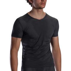 textil Hombre Camisetas manga corta Olaf Benz Camiseta de cuello en V RED1871 Pearl Black