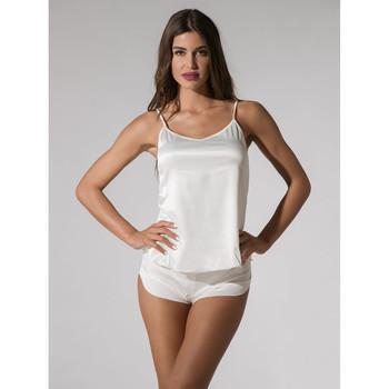 textil Mujer Pijama Luna Pantalones cortos  Prestige Amarillo