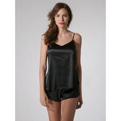 textil Mujer Pijama Luna Pantalones cortos  Prestige Pearl Black