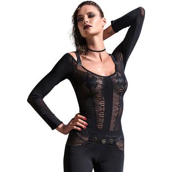 textil Mujer Tops / Blusas Les P'tites Folies Top Aretha des P'tites Folies de Catanzaro Pearl Black