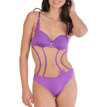 Ropa interior Mujer Body Lisca Cuerda del cuerpo de la Divina Púrpura/naranja