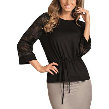 textil Mujer Tops / Blusas Lisca Top de encaje con mangas tres cuartos Verónica Pearl Black