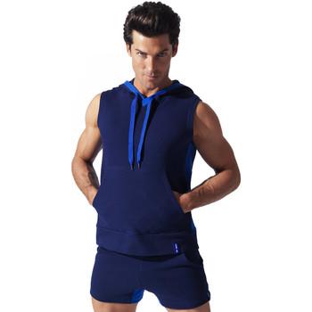 textil Hombre camisetas sin mangas Code 22 Sweet Hoody Sleeveless Sport Code22 Azul