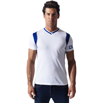 textil Hombre Camisetas manga corta Code 22 Camiseta Contrast Sport Code22 Blanco