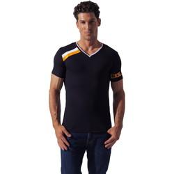 textil Hombre camisetas manga corta Code 22 Camiseta deportiva asimétrica Código 22 Pearl Black