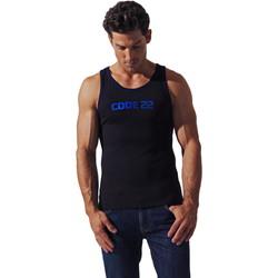 textil Hombre Camisetas sin mangas Code 22 Código Básico22 Tank Top Pearl Black