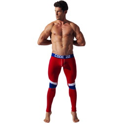 textil Hombre Leggings Code 22 Mallas de doble costura Long John Code22 Arena
