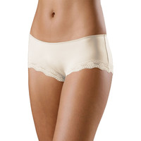 Ropa interior Mujer Shorty / Boxer Lascana Microfibra Shorty Perfect Basic Amarillo