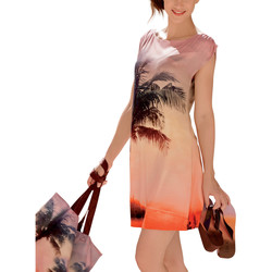textil Mujer Vestidos cortos Lisca Vestido playa Copacabana Naranjaange