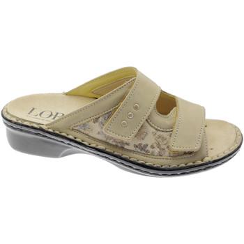 Zapatos Mujer Zuecos (Mules) Calzaturificio Loren LOM2714be bianco