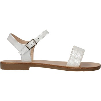 Zapatos Niña Sandalias Moda Positano - Sandalo perlato  bianco B4/19 BIANCO
