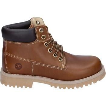 Zapatos Niño Botas de caña baja Melania botines cuero marrón