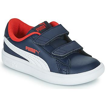Zapatos Niño Zapatillas bajas Puma SMASH Marino