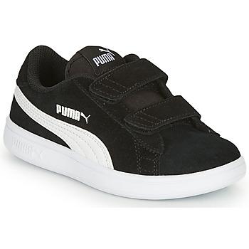Zapatos Niños Zapatillas bajas Puma SMASH Negro