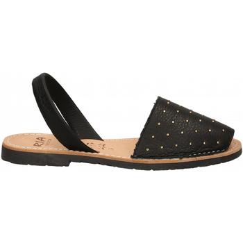 Zapatos Mujer Sandalias Ria VELVET BLANCO negro