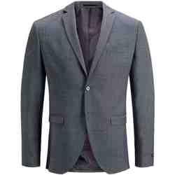 textil Hombre Chaquetas / Americana Jack & Jones 12141107 JPRSOLARIS BLAZER NOOS DARK GREY Gris