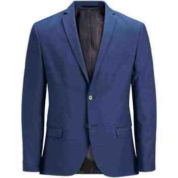 textil Hombre Chaquetas / Americana Jack & Jones 12141107 JPRSOLARIS BLAZER NOOS MEDIEVAL BLUE Azul
