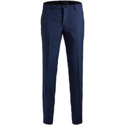 textil Hombre Pantalón de traje Jack & Jones 12141112 JPRSOLARIS TROUSER NOOS MEDIEVAL BLUE Azul