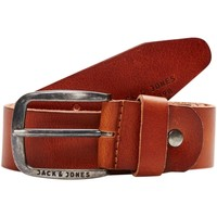 Accesorios textil Hombre Cinturones Jack & Jones 12111286 JACPAUL LEATHER BELT NOOS MOCHA BISQUE Marrón
