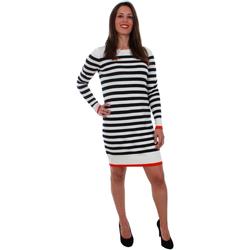 textil Mujer Vestidos cortos Vero Moda 10207957 VMDOSS LACOLE LS O-NECK DRESS BOOSTER NIGHT SKY Azul marino