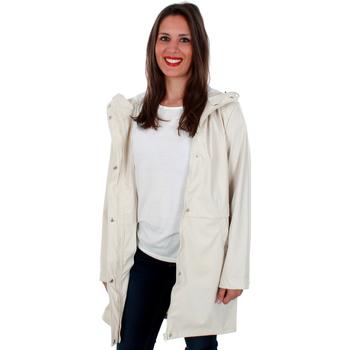 textil Mujer Cortaviento Vero Moda 10206601 VMFRIDAY 3/4 COATED JACKET OATMEAL Beige