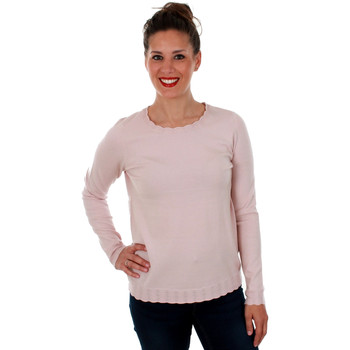 textil Mujer Jerséis Vero Moda 10211508 VMHAPPY LS POINTELLE BLOUSE BOO SEPIA ROSE Rosa
