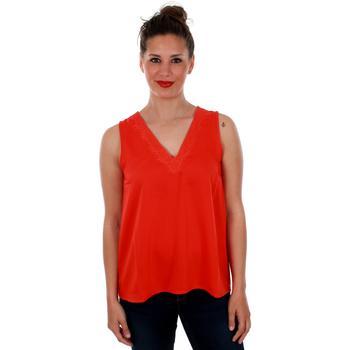 textil Mujer Tops / Blusas Vero Moda 10212237 VMTUVA SL TOP WVN FIERY RED Rojo
