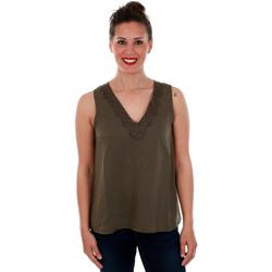 textil Mujer Tops / Blusas Vero Moda 10212237 VMTUVA SL TOP WVN IVY GREEN Verde