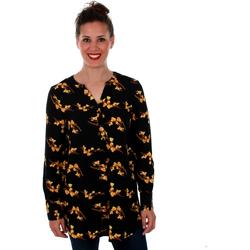 textil Mujer Túnicas Vero Moda 10201931 VMSAGA LS TUNIC BLACK VIGGA BL Negro