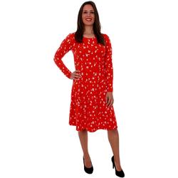 textil Mujer Vestidos cortos Vero Moda 10211791 VMGERDA LS ABK DRESS JRS FIERY RED GERDA Rojo